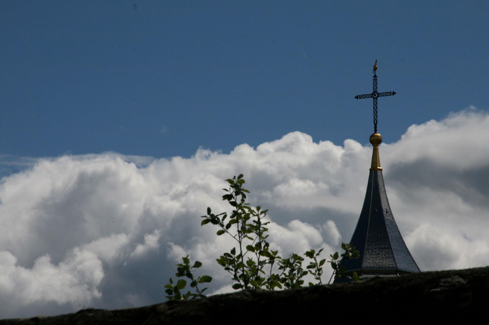 La croix de l'église Saint Pancrace d'Yvoire