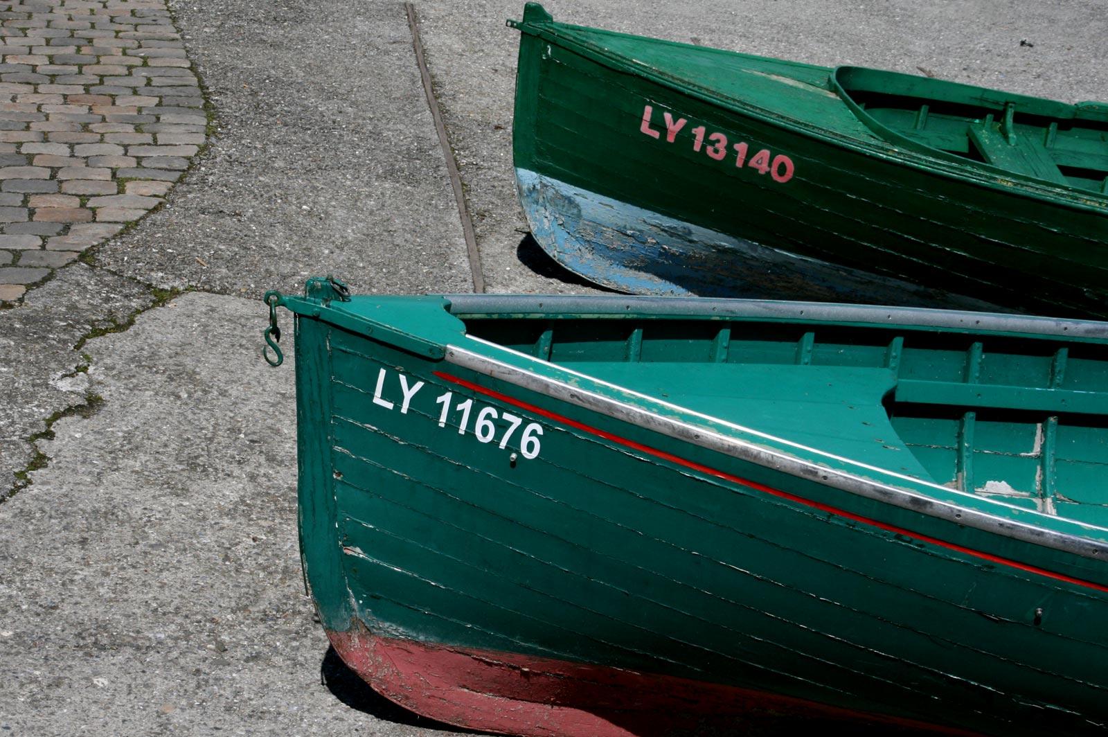 Yvoire en Suisse barques